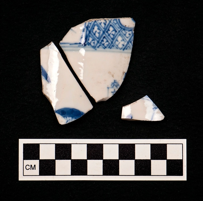 These sherds are similar to a wine cup found at Jamestown dating from the early years of the settlement. If John and Priscilla owned this cup, it would have shown off their wealth and status to visitors.