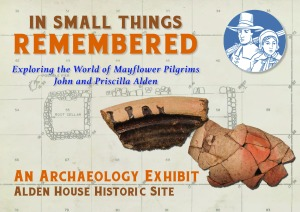 In Small Things Remembered exhibit flier showing milk pan and Iberian storage jar